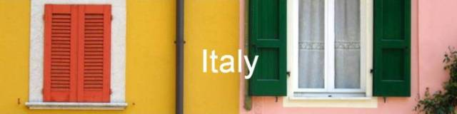 Italy, Gargnano, houses colours