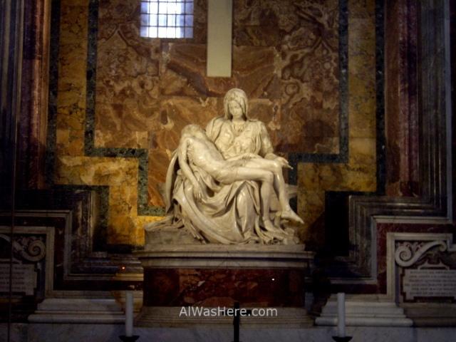 ST PETER'S BASILICA, VATICAN CITY. SAN PEDRO DEL VATICANO 3 LA PIEDAD DE MIGUEL ANGEL, VATICANO Michelangelo's Pieta