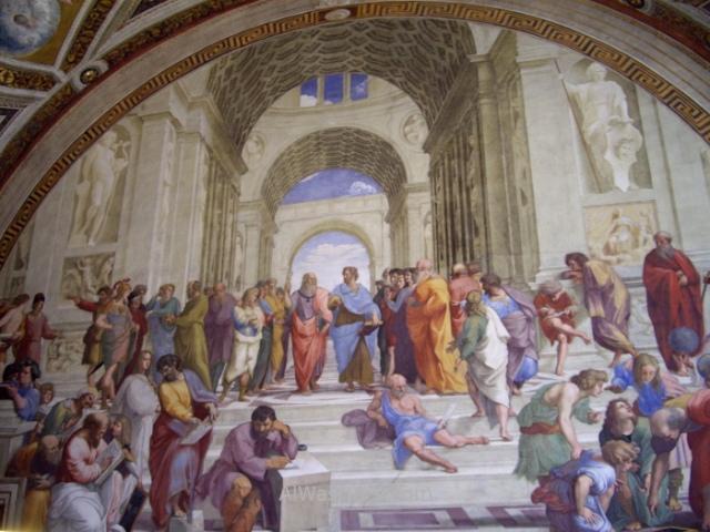 VATICANO MUSEOS 2. Museum estancias de Rafael Sanzio Raphael Rafaello paintings fresco Escuela de Atenas School of Athens