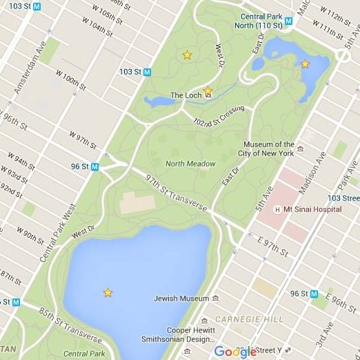 mapa central park norte