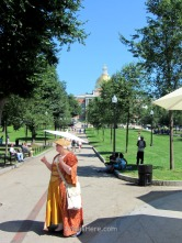 One tourist guide in the Freedom Trail