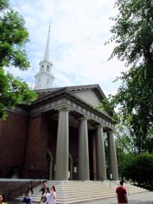 One of the buildings in Harvard University