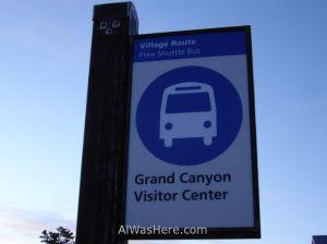 Parada minibus Gran Cañón