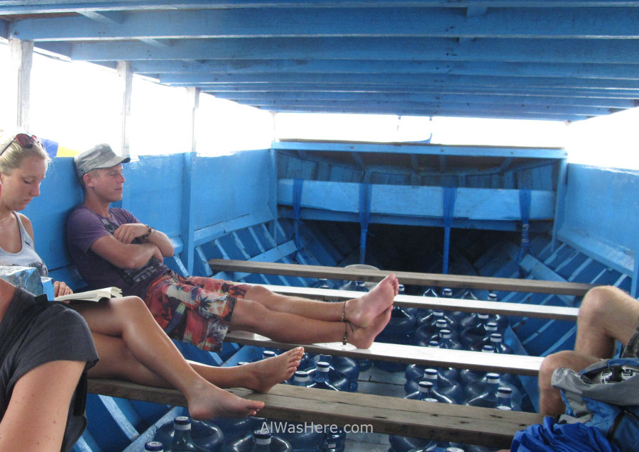 The banca is the cheapest boat to Nusa Lembongan; we were just backpackers and some local people