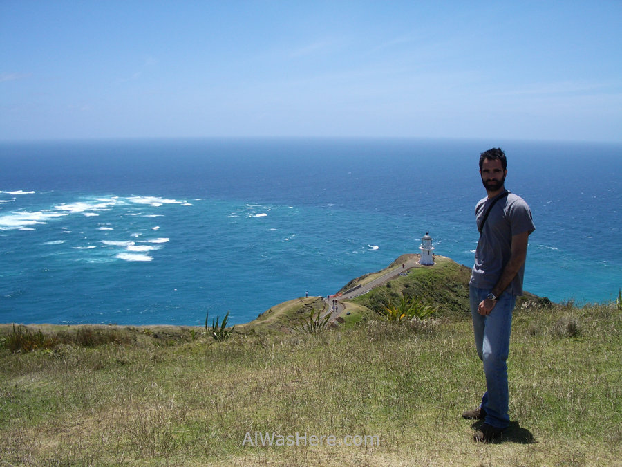 The eternal waves, two water colors and Cape Reinga lighthouse