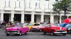 Taxis colectivos habana vieja Cuba. Shared old havana