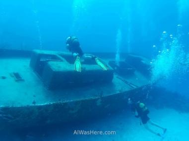 Wreck in Punta Perdiz, Playa Larga, Cuba