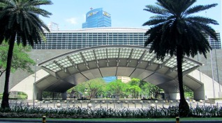 Park in Makati, Manila, The Philippines