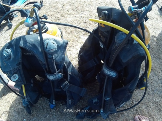 2. Playa Larga, Cuba. Equipos de buceo. Diving equipment