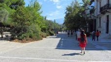 Pedestrian path around the Acropolis, Athens