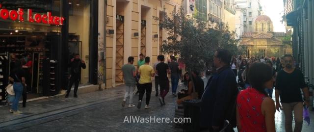 Atenas 1. Calle Ermou. Grecia, Street, Greece recortada