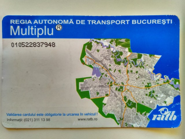 Bucarest 1. tarjeta Transporte, bus 783 aeropuerto, Rumania. Bucharest airport Romania Activ smart card