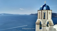 Bell tower in Oia, Santorini, Greece