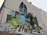 Graffiti on a street in Mitte. The Godzilla is second to none