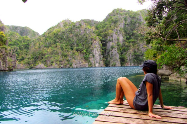 Isla de Coron 11. Pili en Kayangan Lake, Palawan, Filipinas. Coron Island, The Philippines