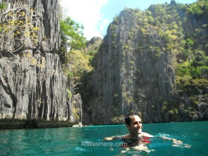 Swimming in the second of the Twin Lagoons