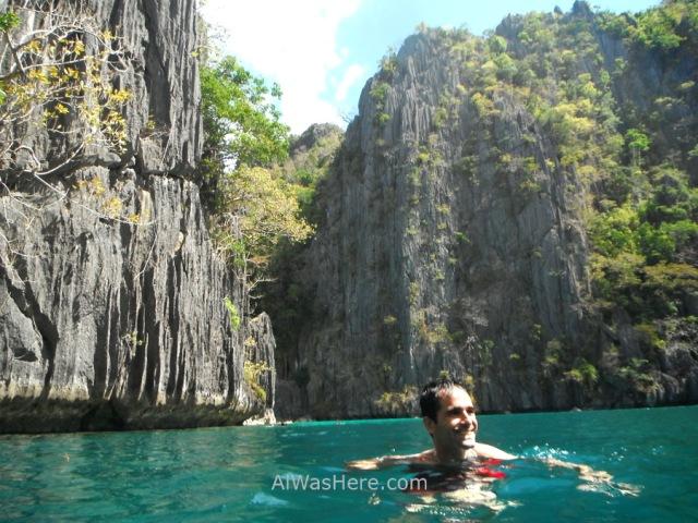 Isla de Coron 5. AlWasHere nadando en Twin Lagoons, Palawan, Filipinas. swimming Coron Island, The Philippines