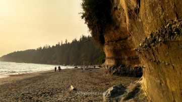 China Beach at dusk, Juan de Fuca Marine Trail