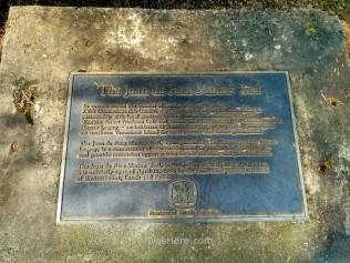 Juan de Fuca Marine Trail plaque