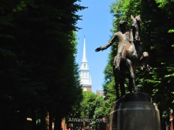 Paul Revere statue in North End, Boston
