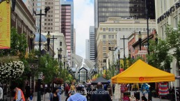 8th avenue in downtown Calgary