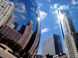 Famous Cloud Gate in Millennium Park