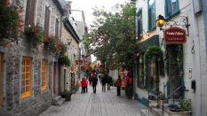 Street in Quebec City old center