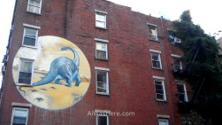 Dinosaur graffiti between NoLIta and East Village