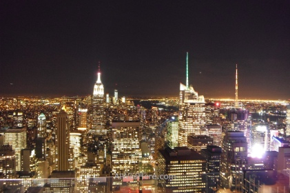 Night view of Manhattan from Top of the Rock