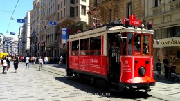 Touristic tram in Beyoglu