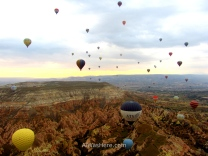 Hot air balloons over Cappadocia, Turkey