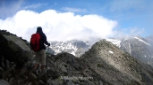 On a mountain ridge in GR20, Corsica