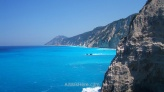 White cliffs in southwest Lefkada