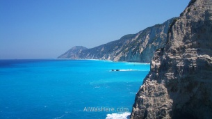 White cliffs in southwest Lefkada
