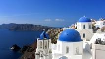 Blue domes in Oia, Santorini
