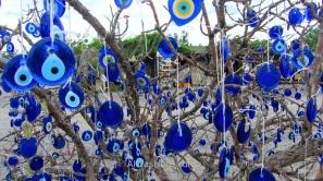 Glass Turkish eyes in Cappadocia