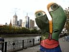 Modern sculpture near Yarra River, Melbourne