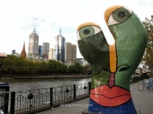 Modern sculpture near Yarra River, Melbourne
