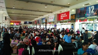 Crowded waiting room in South Bus Station