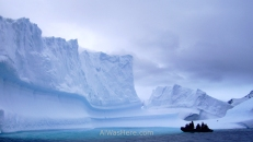 Boat near Lemaire, Antarctica