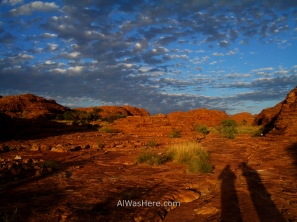 Kings Canyon at sunset, Australia
