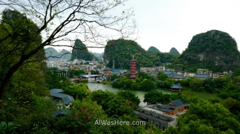 View from Folded Brocade (Diecai) Hill, Guilin