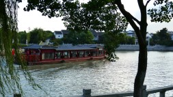 Tourist boat in Suzhou's main canal