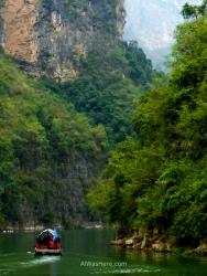 Boat in Three Tiny Gorges, Yangtze River, China