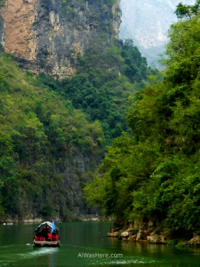 Boat in Three Tiny Gorges, Yangtze River, China
