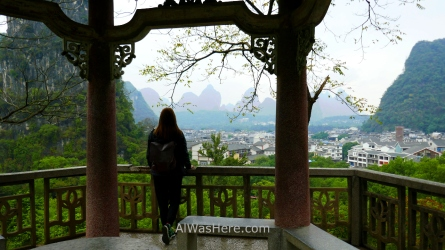 Pili in the lookout point in Yangshuo Park, Guilin, China
