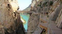 Gangplank in El Caminito del Rey, El Chorro, Málaga Province, Andalusia, Spain