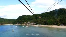 Marimegmeg Beach from the zip line, El Nido, Palawan, Philippines