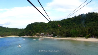 Marimegmeg Beach from the zip line, El Nido, Palawan, Philippines