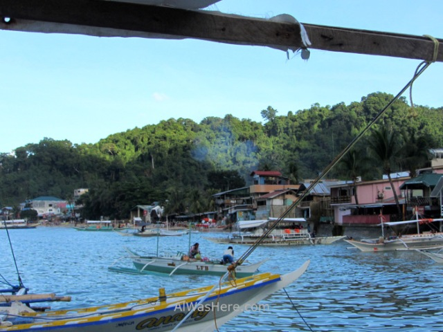 el nido transporte 1.1. vista desde el ferry barco de coron, palawan filipinas. view boat philippines